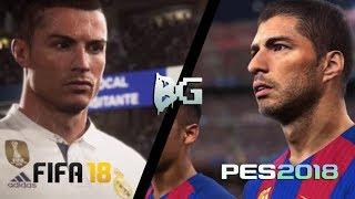 QUAL GAME TEM MELHOR GRÁFICO, PES 2018 OU FIFA 18? 🎮