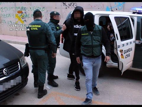 La Guardia Civil esclarece un tiroteo en Archena y detiene a cinco personas por tráfico de marihuana