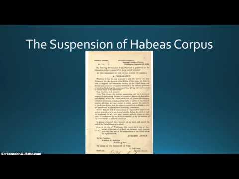 The Suspension of Habeas Corpus