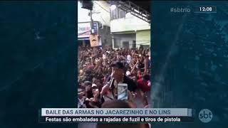 MC POZE DO RODO COM FRED CHEFÃO DO CV COM FUZIL DA TIROS NO BAILE FUNK JACAREZINHO LINS . SBT JORNAL