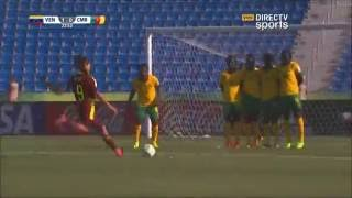 Deyna Castellanos gol de tiro libre. Mundial Sub17 2016 Jordania. Venezuela vs. Camerún