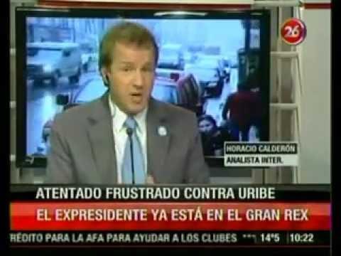 HORACIO CALDERON ANALIZA EN CANAL 26, EL SUPUESTO ATENTADO CONTRA EL EX PRESIDENTE ALVARO URIBE