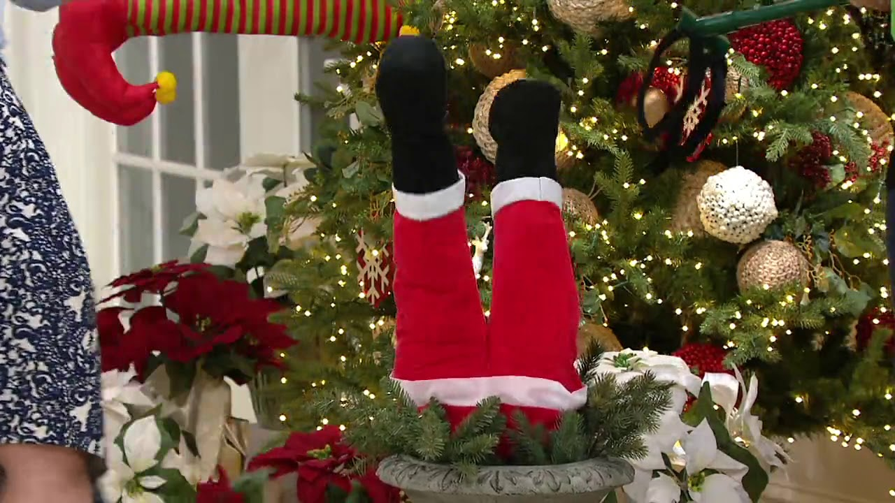 Mr Christmas Indoor Outdoor Motion Activated Holiday Kickers on QVC