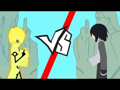 Naruto Vs Sasuke -stick Nodes-