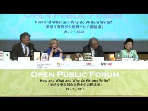 HKBF2013: How and What and Why do Writers Write?