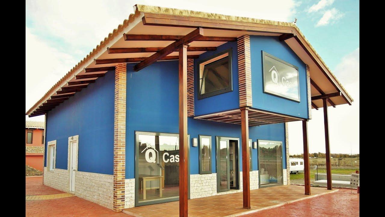 Casas prefabricadas de acero y hormigon qcasa modelo covadonga youtube - Casas prefabricadas hormigon ...