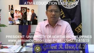 UNIVERSITY OF NORTHERN PHILIPPINES PRESIDENT MESSAGE , ATMIA EDUCATION, www.unp.ph