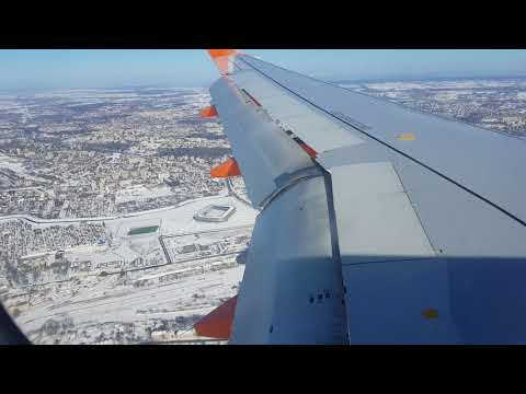 Winter landing in Lublin EasyJet Airbus A320