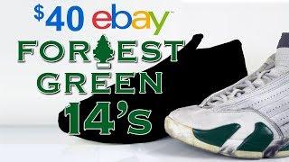 Restoring $40, Jordan 14 Forest Green eBay beaters