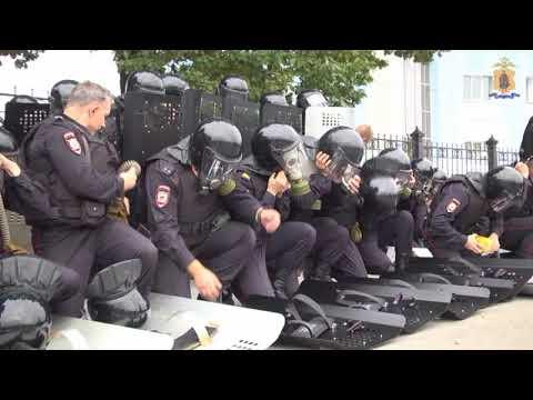 Тренировка МВД по пресечению массовых беспорядков