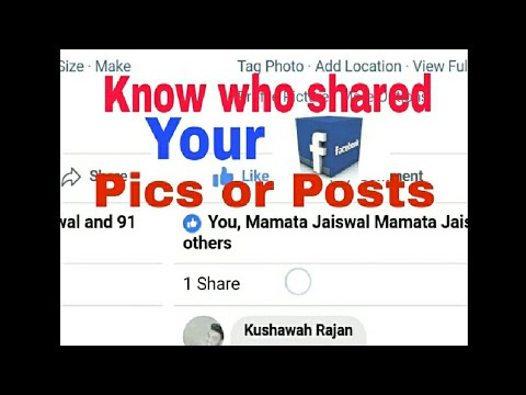 How to see who has shared your photo on facebook