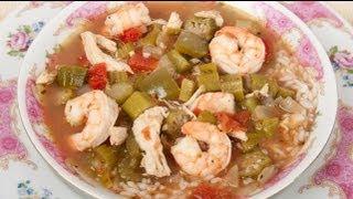 Homemade Gluten Free Chicken And Shrimp Gumbo