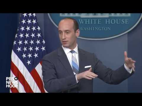 Sarah Sanders, Stephen Miller hold White House news briefing