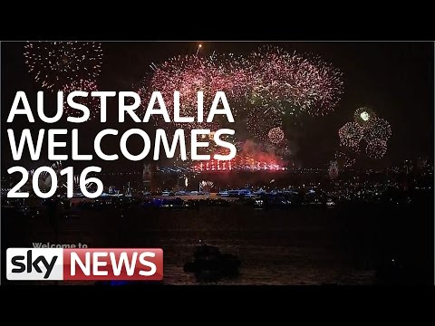 Australia Welcomes In 2016 With Spectacular Display