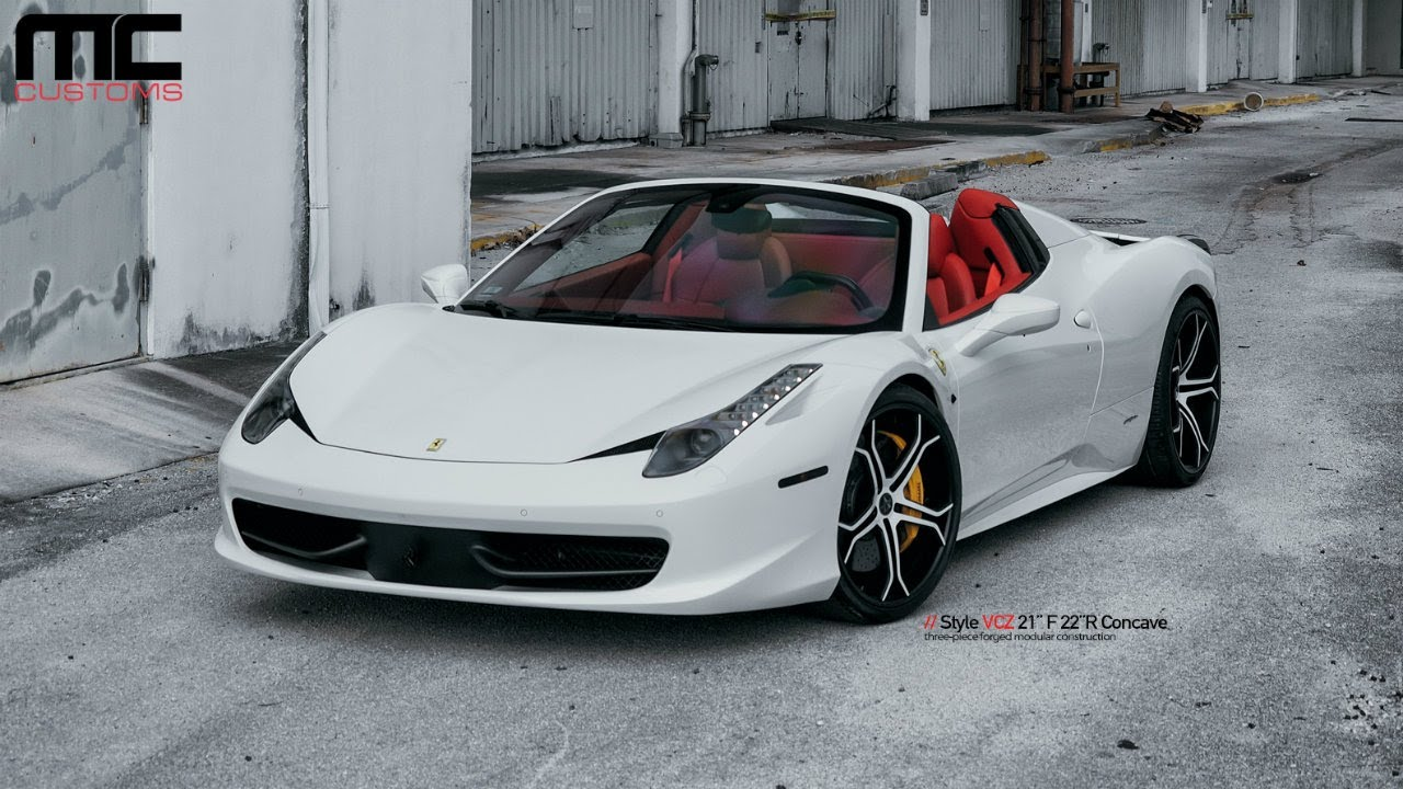 mc customs vellano wheels ferrari 458 italia spider youtube. Black Bedroom Furniture Sets. Home Design Ideas