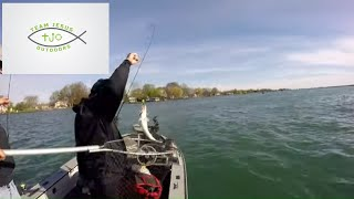 I Caught My First St  Clair River Walleye! Jigging the St  Clari River for Walleye and MTB Unboxing