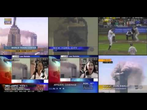 9/11 Simultaneous Broadcast from Six Networks of the first fifteen minutes