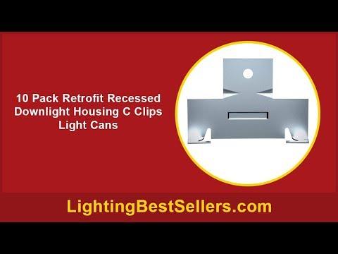 10 pack retrofit recessed downlight housing c clip