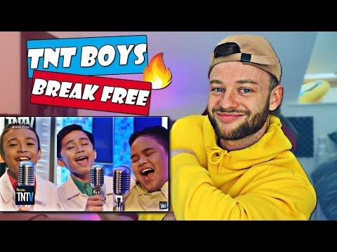 TNT Boys - Break Free Reaction | Ariana Grande Cover |  LISTEN TO THIS HARMONY !