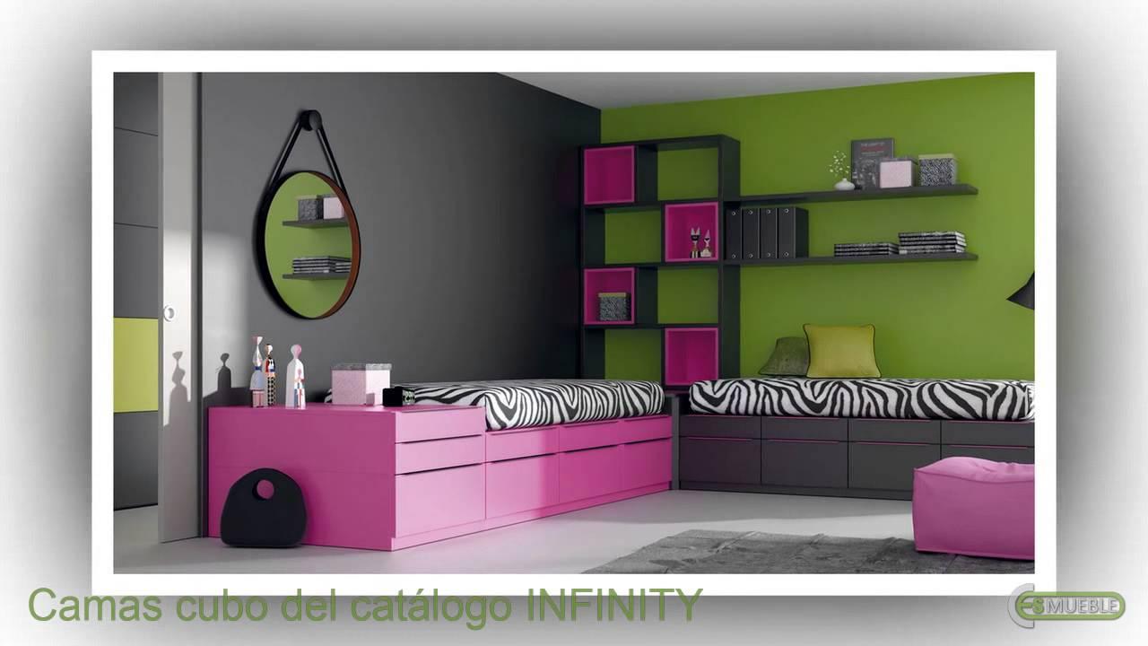 Camas cubo para dormitorios juveniles del catalogo for Camas para habitaciones juveniles