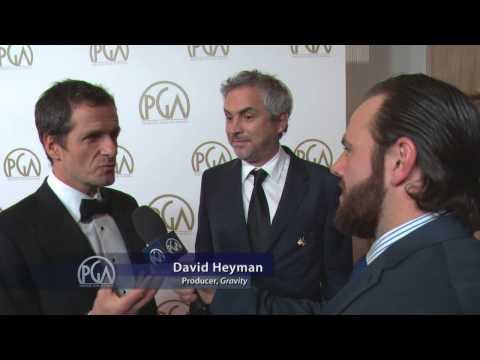 Alfonso Cuarón and David Heyman, Gravity Producers, on the PGA Red Carpet with ShayCarl