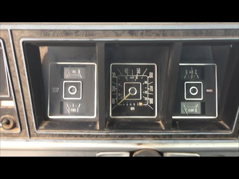 1977 F150 Instrument Cluster Removal
