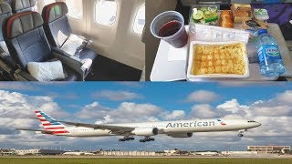 American Airlines ECONOMY CLASS London to Los Angeles|Boeing 777-300ER