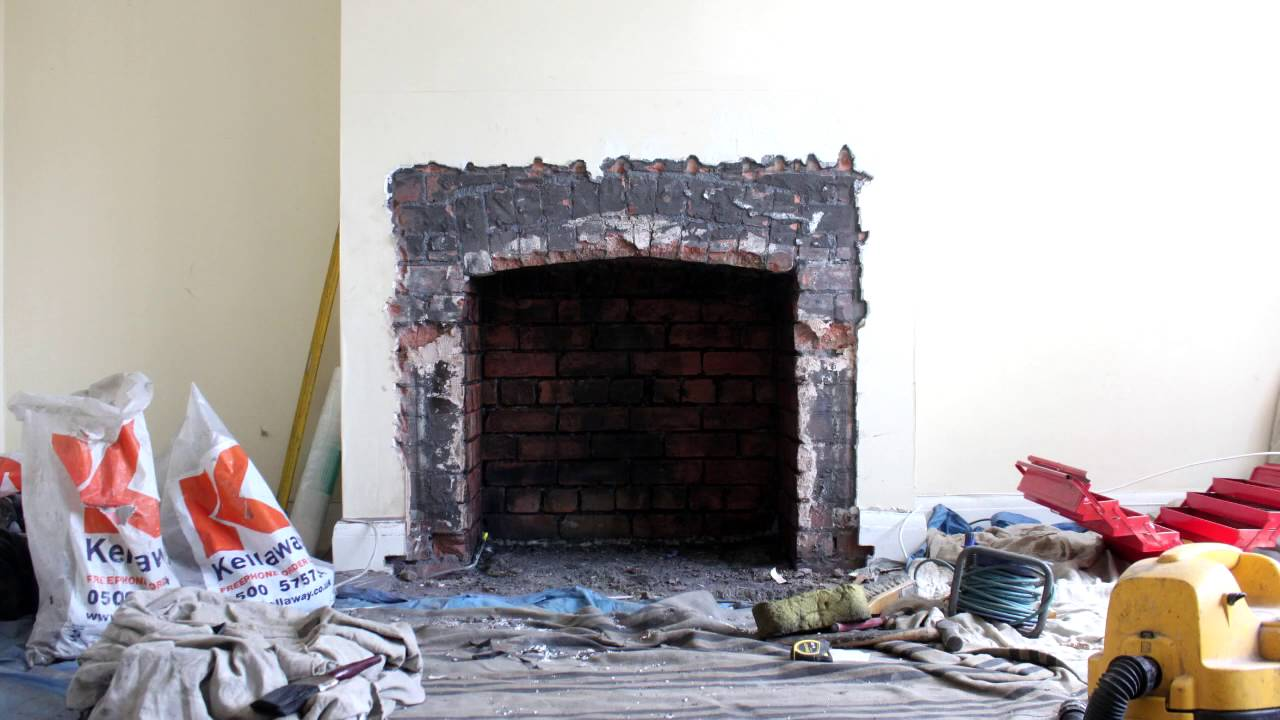 Opening up of fireplace and installation of Esse 1