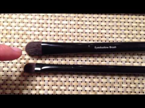 Part Three: Eyeshadow Laydown (flat) Brushes  Chikuhodo, Suqqu, Shu Uemura