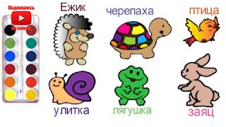 Как рисовать животных - Раскраски для детей - Обучающие дошкольные занятия