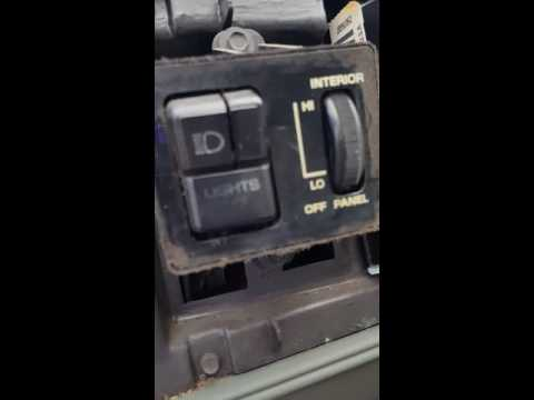 1985 Oldsmobile Cutlass Supreme Headlight Switch Replacement
