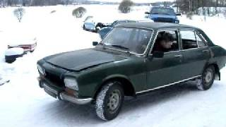 Peugeot 504 1972 Historic Rally car moving after 27 years of sitting