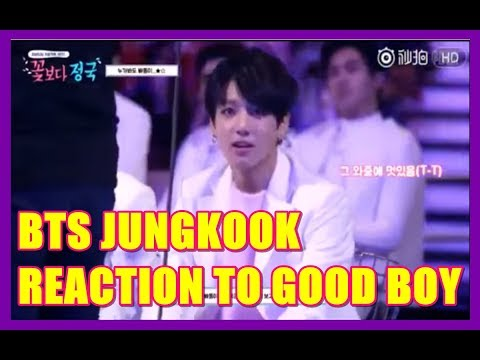 BTS Jungkook reaction to Good Boy GD & Taeyang ( MAMA 2014 )