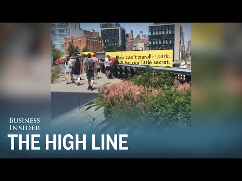 Take a tour of the High Line park in New York City