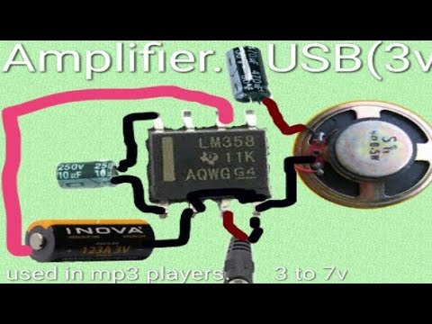 audio amplifier using lm 386 ic