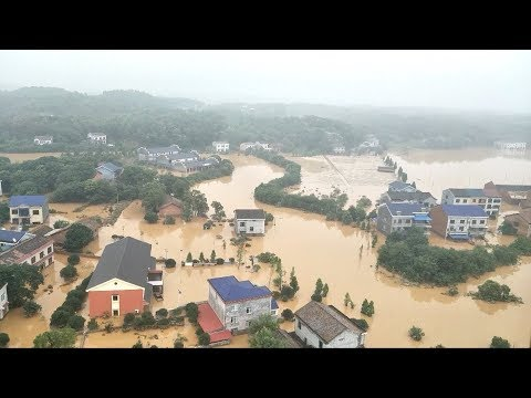 Daring rescue missions carried out in China's flood-affected regions