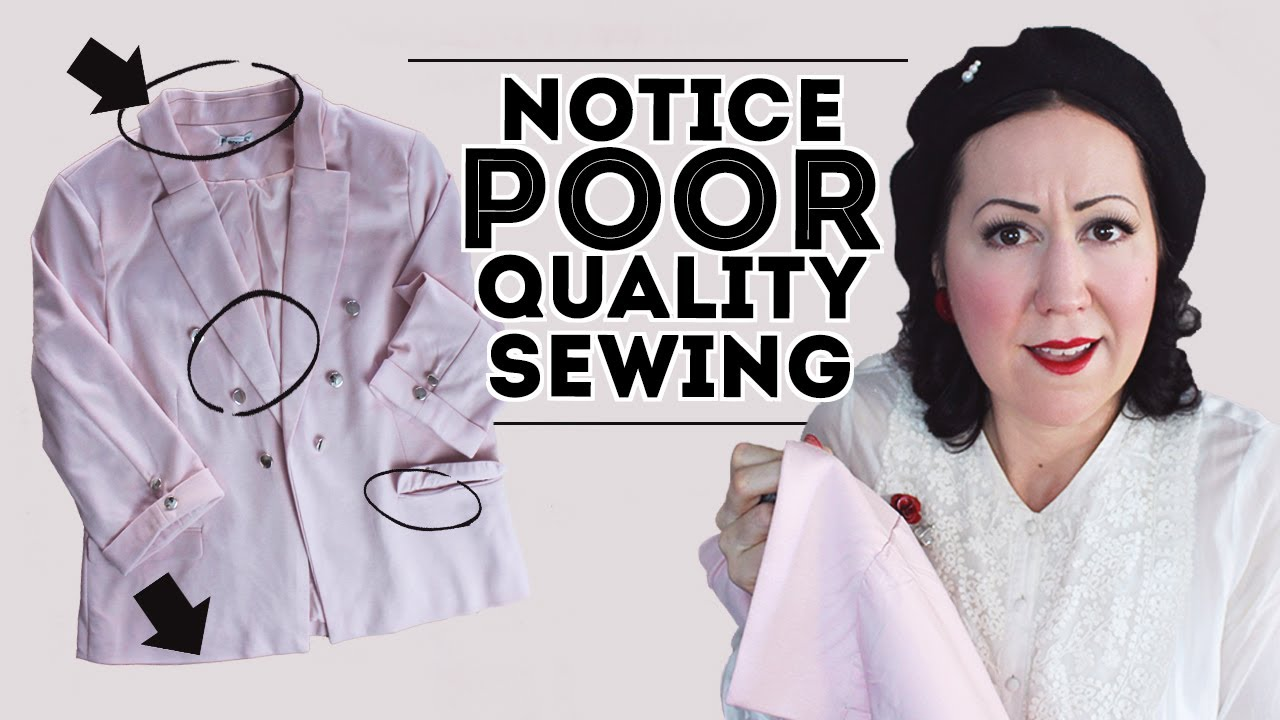 Download RED FLAGS OF A POOR QUALITY GARMENT – Get better at sewing by looking at garment construction!