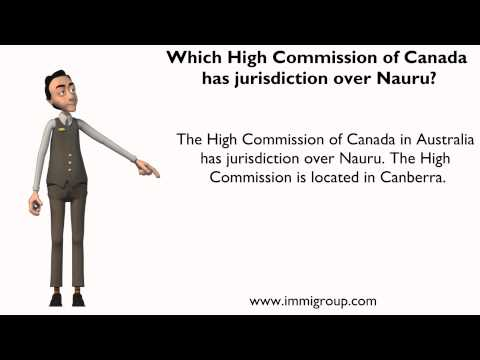 Which High Commission of Canada has jurisdiction over Nauru?