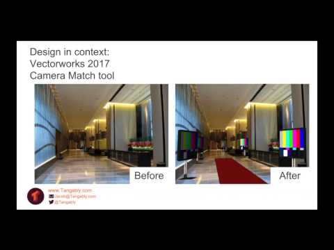 Design in context with Vectorworks 2017 Camera Match tool