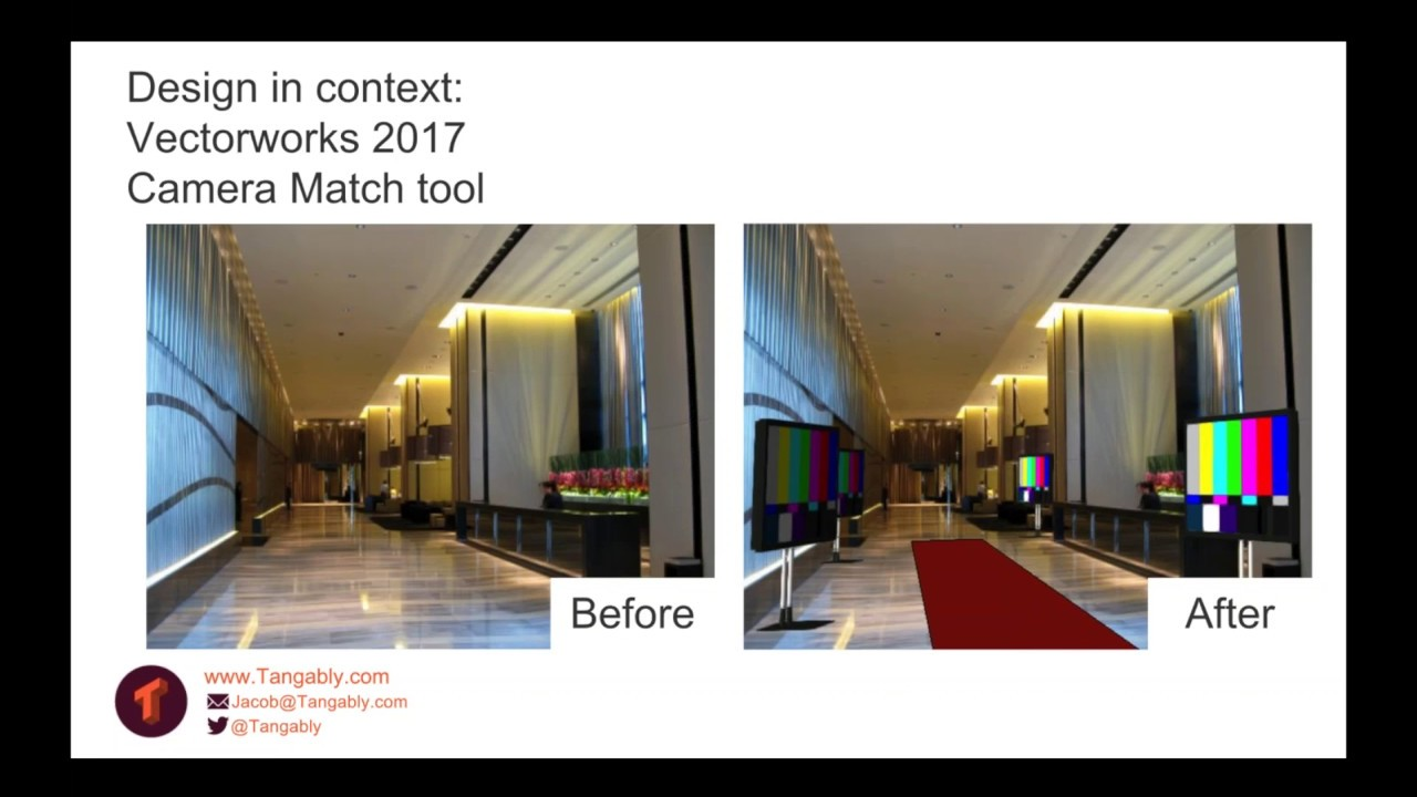 Design in context with vectorworks camera match tool youtube
