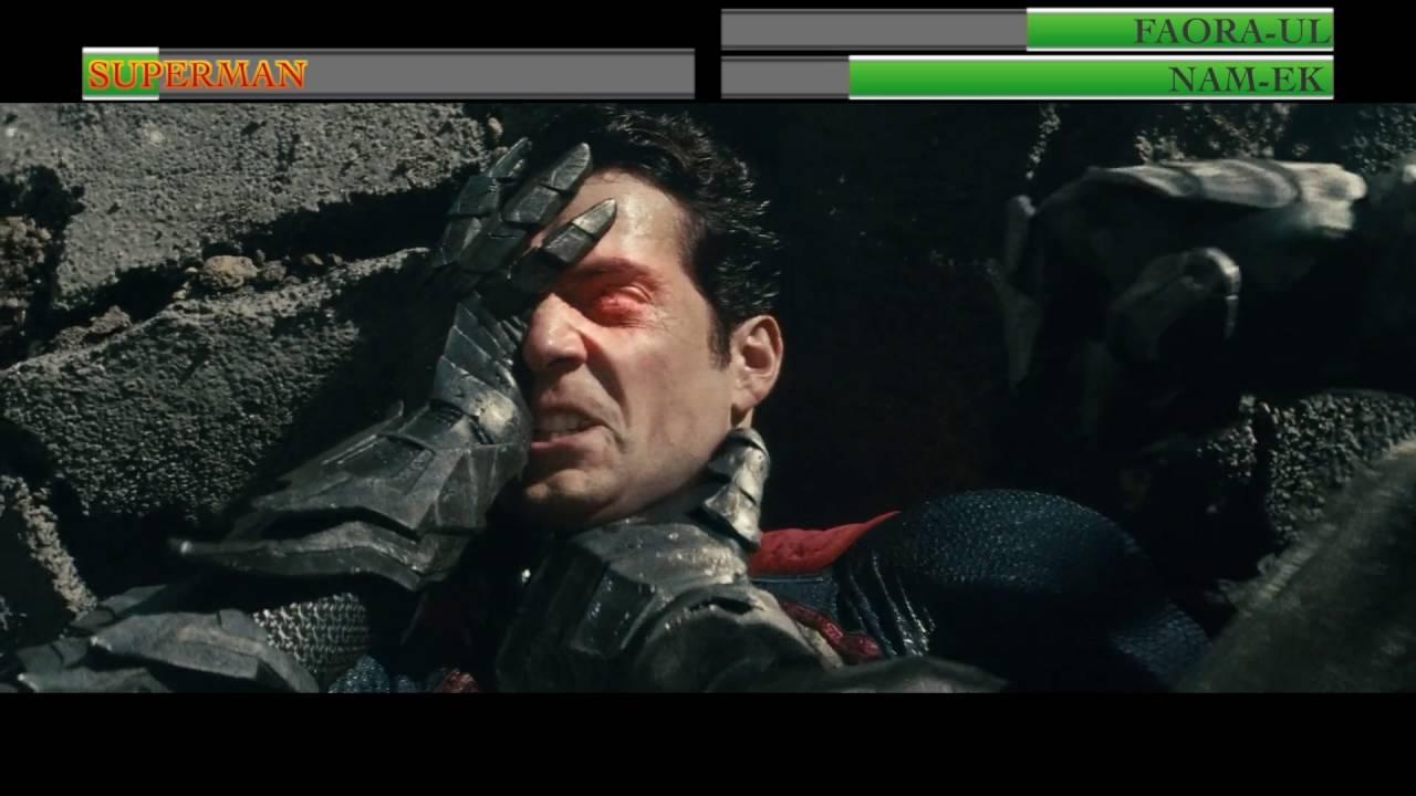 superman vs faoraul and namekwith healthbars youtube