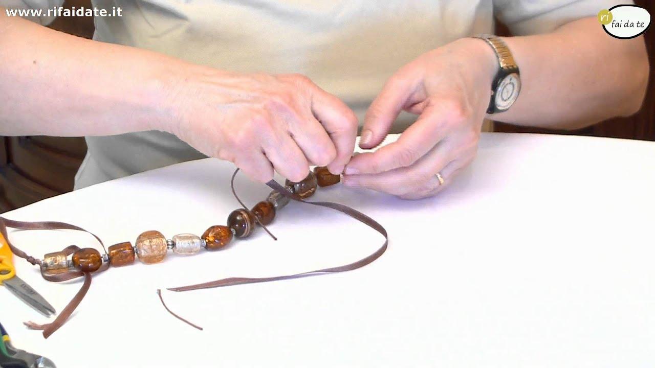Favorito Creare una collana in pietre dure parte 2 - YouTube UZ18