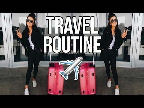 My Travel Routine + HACKS to Make Packing Easier! || Sarah Belle