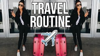 My Travel Routine + HACKS to Make Packing Easier! || Sarah Belle