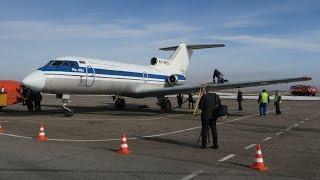 видео: Первый рейс Москва - Старый Оскол на Як-40 Вологодского авиапредприятия