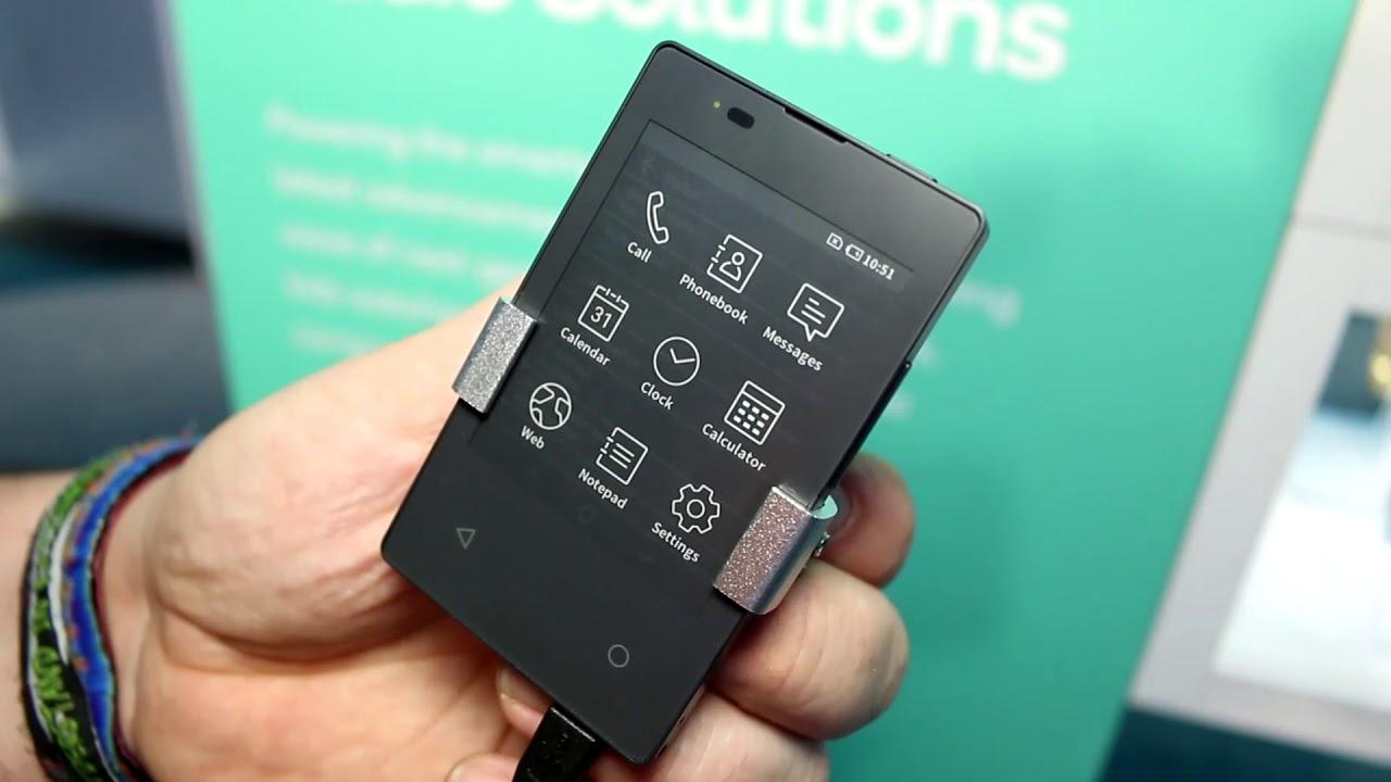 Kyocera Card-Keitai E-ink Phone Runs Android (video) | The