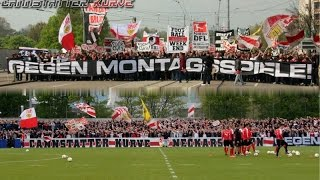 protest gegen montagsspiele ultras vfb stuttgart demo trainingsbesuch