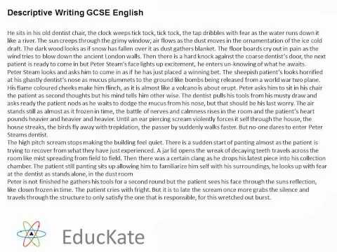 English creative writing GSCE coursework?