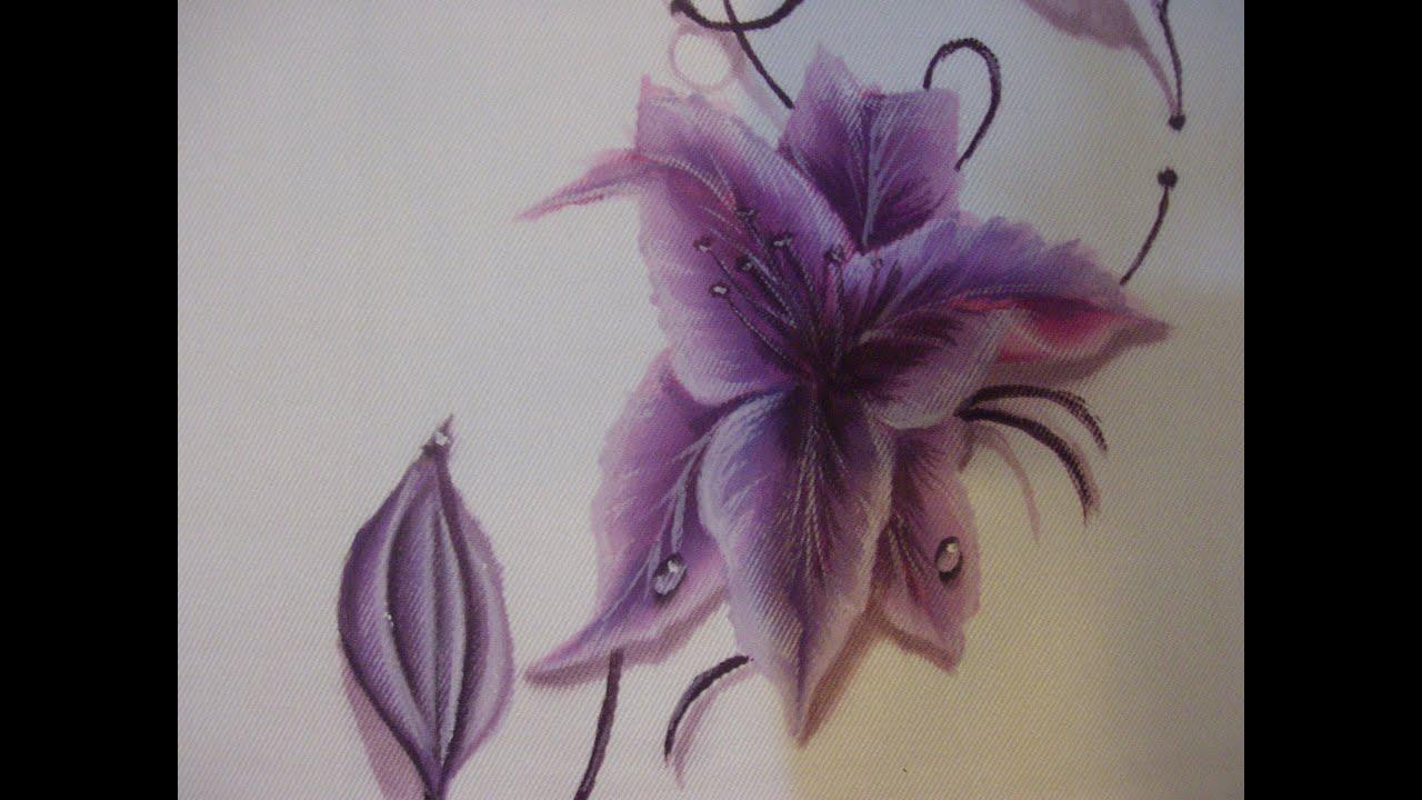 dipingere sulla stoffa con colori acrilici - youtube - Decorazioni Su Stoffa
