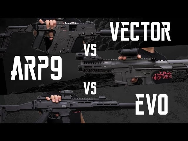 SMG SHOWDOWN: Vector vs ARP9 vs EVO – RedWolf Airsoft RWTV